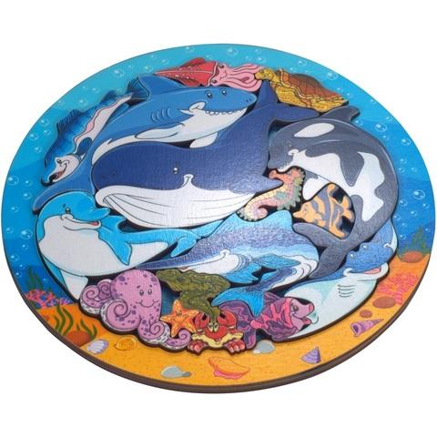 Деревянный пазл Зоопазл Подводный мир, Нескучные Игры, арт. 8114