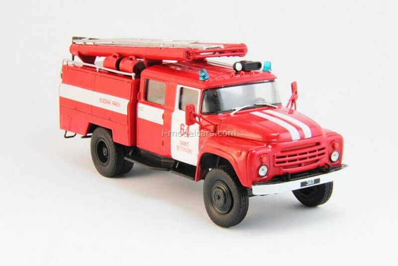 ZIL-130 Fire-fighting tank Saint Petersburg 1:43 DeAgostini Auto Legends USSR Trucks #3