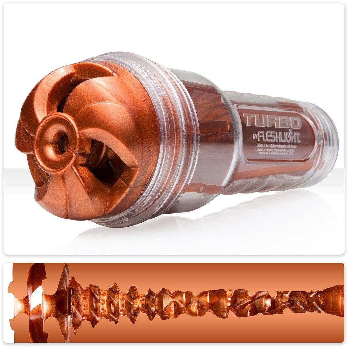 Мастурбаторы: Мастурбатор Fleshlight Turbo - Thrust Copper