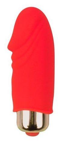 Красный вибромассажер Sweet Toys - 5,5 см.