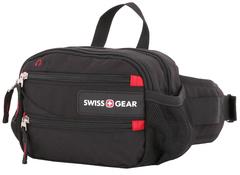 Сумка поясная Swissgear, черная, 23х10х15 см