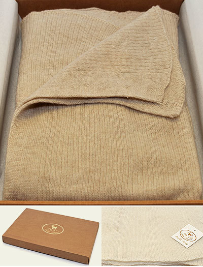 Плед-шарф 60х220 Stole от CO.BI. бежевый