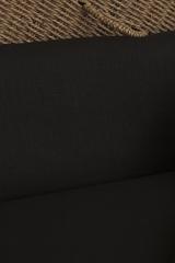 Интерьерный лён, цвет черный