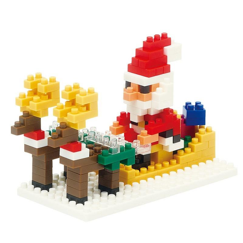 Nanoblocks Дед мороз на оленях