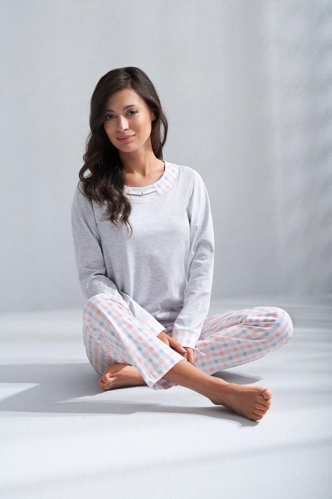 5f889d24463f8 Пижама домашняя женская Luna 574 - Пижама женская - цвет светло-серый