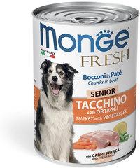 Monge Senior Dog Fresh Chunks in Loaf влажный корм для пожилых собак Мясной рулет с индейкой и овощами 400гр
