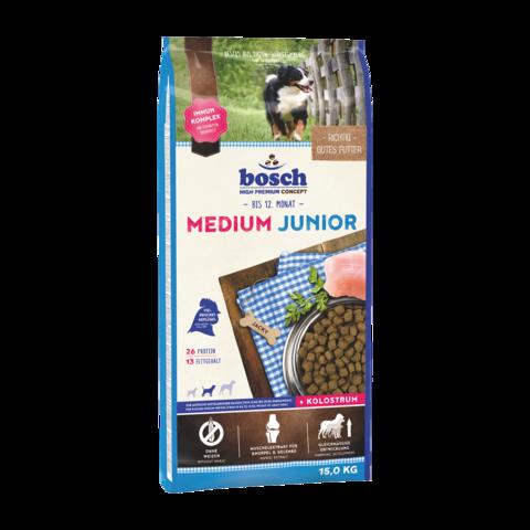 Bosch Junior Medium Сухой корм для щенков средних пород с домашней птицей