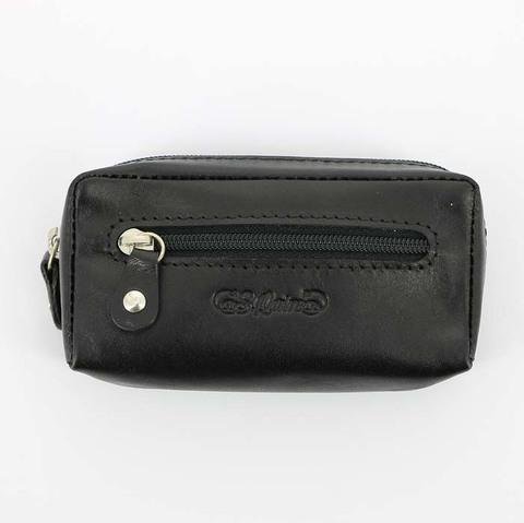Ключница S.Quire 5300-BK VT из натуральной воловьей кожи цвет черный  в подарочной фирменной упаковке