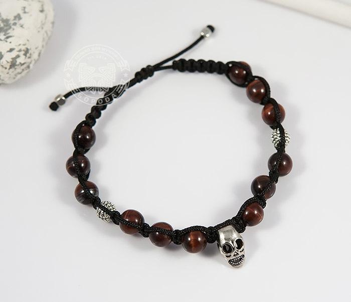 Boroda Design, Мужская шамбала ручной работы с черепом и камнями boroda design мужская шамбала из камня с буддой