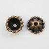 Шапочка для бусины  (цвет - античная медь) 8х3 мм, 10 штук
