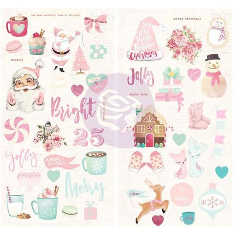 Чипборд из коллекции Santa Baby от Prima Marketing-50 шт