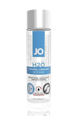 Классический возбуждающий лубрикант на водной основе JO H2O Warming, 8 oz (240мл.) фото