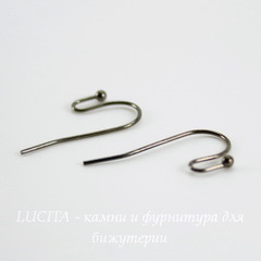 Швензы - крючки c шариком, 22 мм (цвет - черный никель),5 пар