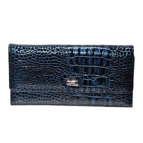 Кошелёк синий женский Coscet нат.кожа CS21-301E