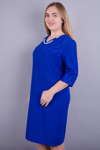 Евелін. Елегантна сукня великих розмірів. Електрик.
