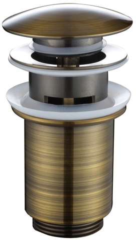Донный клапан KАISER 8036 An автомат, металл в цвете