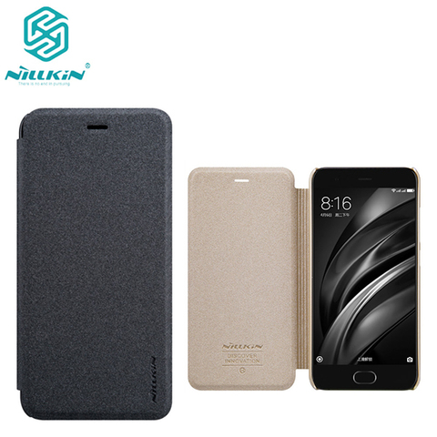 Чехол-книжка NILLKIN Sparkle leather case для Xiaomi Mi 6