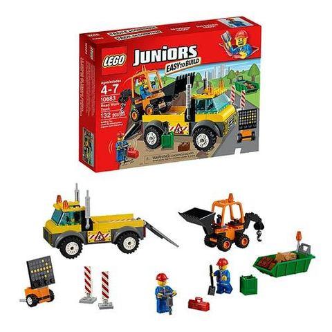 LEGO Juniors: Ремонт дороги 10683 — Road Work Truck — Лего Джуниорс Подростки