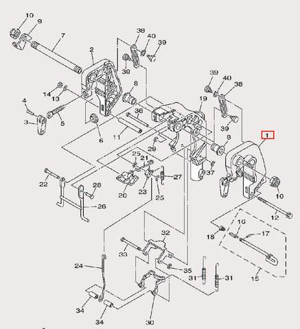 Скоба струбцины левая для лодочного мотора F9,9 Sea-PRO (21-1)