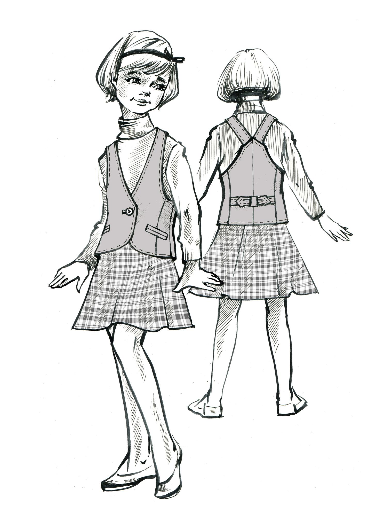 Выкройка школьного жилета для девочки