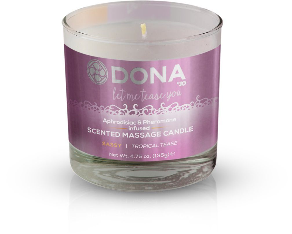 Массажные масла и свечи: Массажная свеча DONA Sassy Tropical Tease - 135 гр.