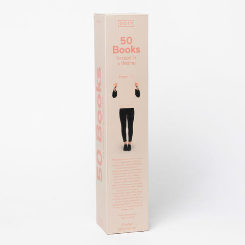 Постер «50 книг, которые нужно прочитать в жизни»