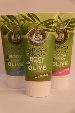 Греческие крема на оливковом масле ATHENA'S TREASURES