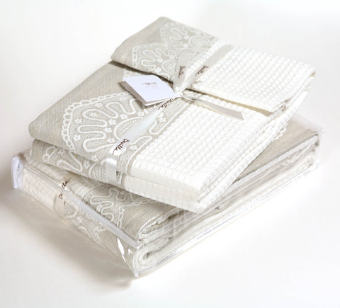 Набор полотенец 2 шт Devilla Lille белый