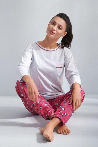 5f24eee858715 Яркая женская пижама Luna 587 - - цвет серый + розовый