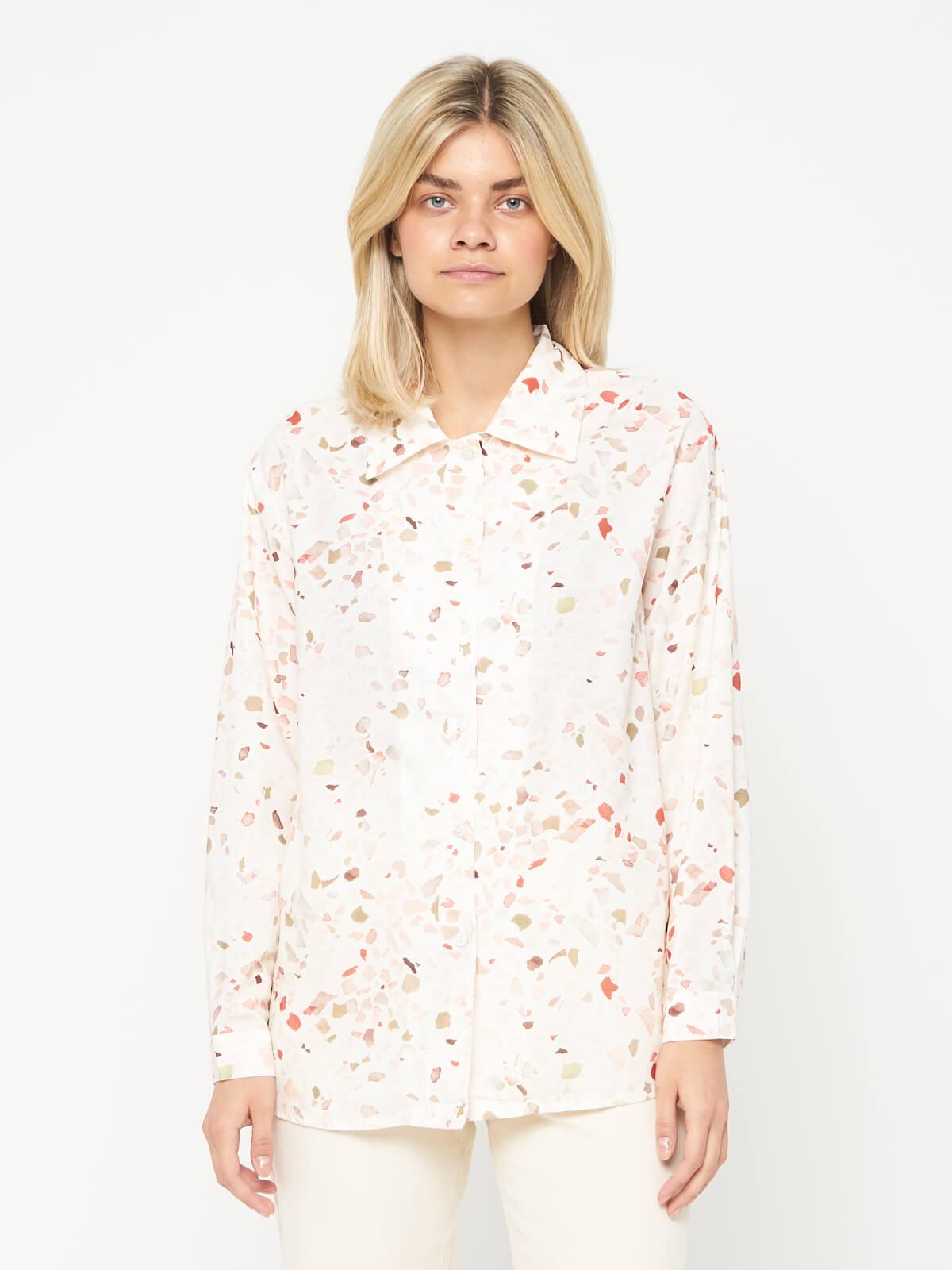 Рубашка с мелким принтом