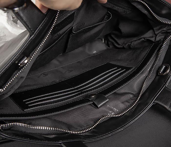 BAG485-1 Мужская деловая сумка из гладкой натуральной кожи фото 14