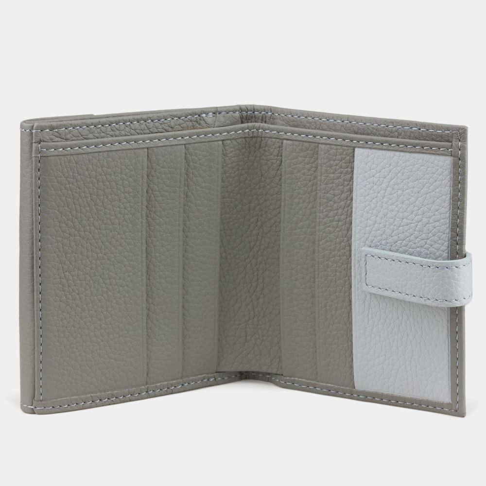 Мини-кошелек Tresor Bicolor из натуральной кожи теленка, стального цвета