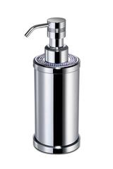 Дозатор для жидкого мыла круглый Windisch 3 Lines хром