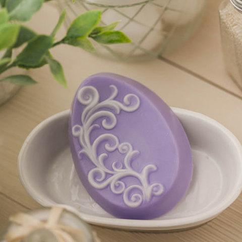 Пластиковая форма для мыла Яйцо с орнаментом 2