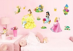 Принцессы Диснея 3D наклейка Сказочные героини
