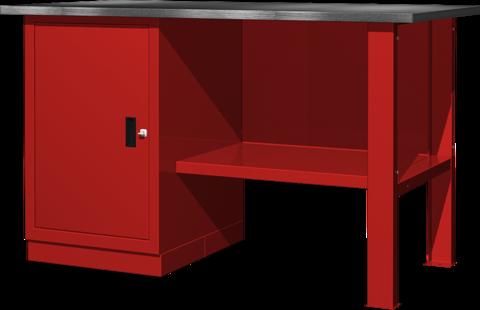 Верстак металлический однотумбовый, дверь Ferrum 01.100, Classic