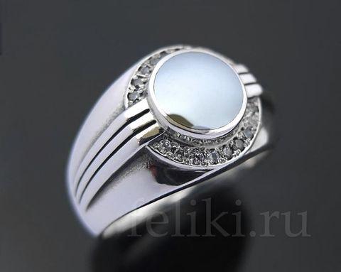 кольцо с гематитом  кс-7118