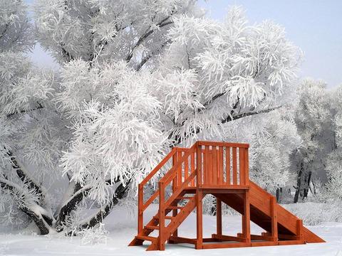 Зимняя детская горка Урал