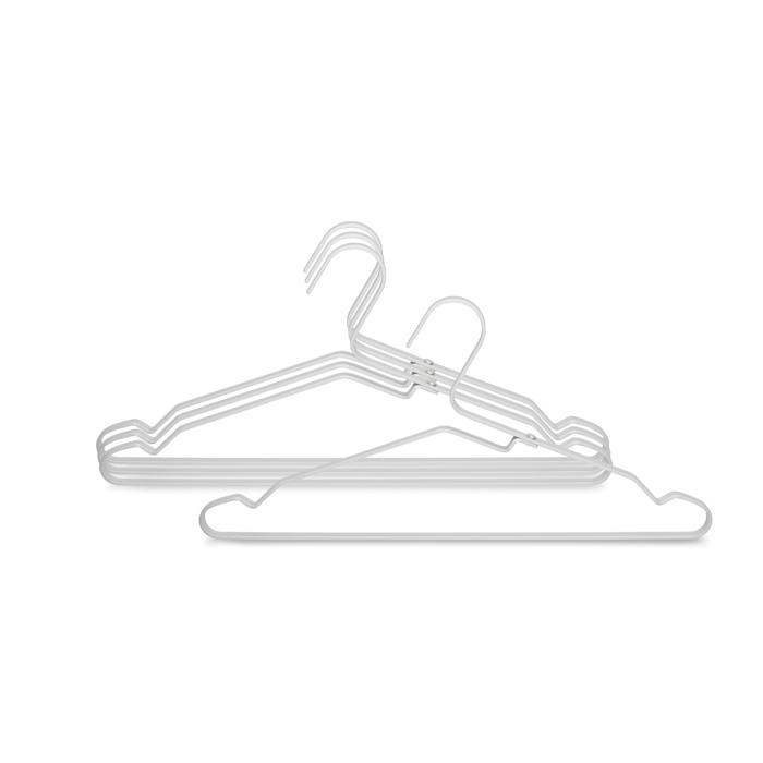 Алюминиевые вешалки для одежды 4 шт., Серебряный, арт. 118661 - фото 1