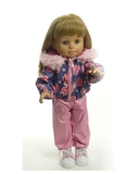 Костюм с курткой c мехом - на кукле. Одежда для кукол, пупсов и мягких игрушек.
