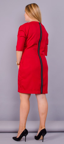 Вікторія. Яскрава сукня великих розмірів. Червоний.