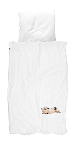 Комплект постельного белья Поросенок белый 150x200см, Snurk