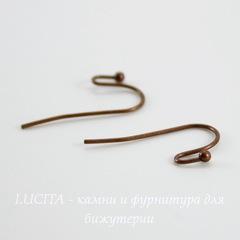 Швензы - крючки c шариком, 22 мм (цвет - античная медь), 5 пар