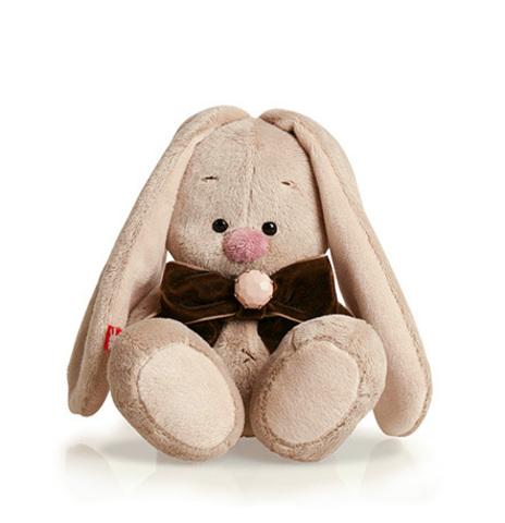 Игрушка мягкая Зайка Ми с коричневым бантом (малыш)