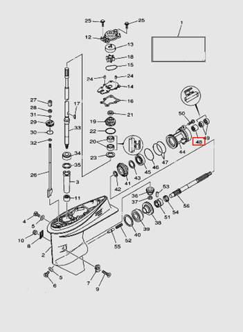 Подшипник для лодочного мотора T40 Sea-PRO (23-48)