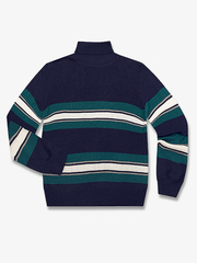BSW000975 свитер детский, тем.синий/зеленый