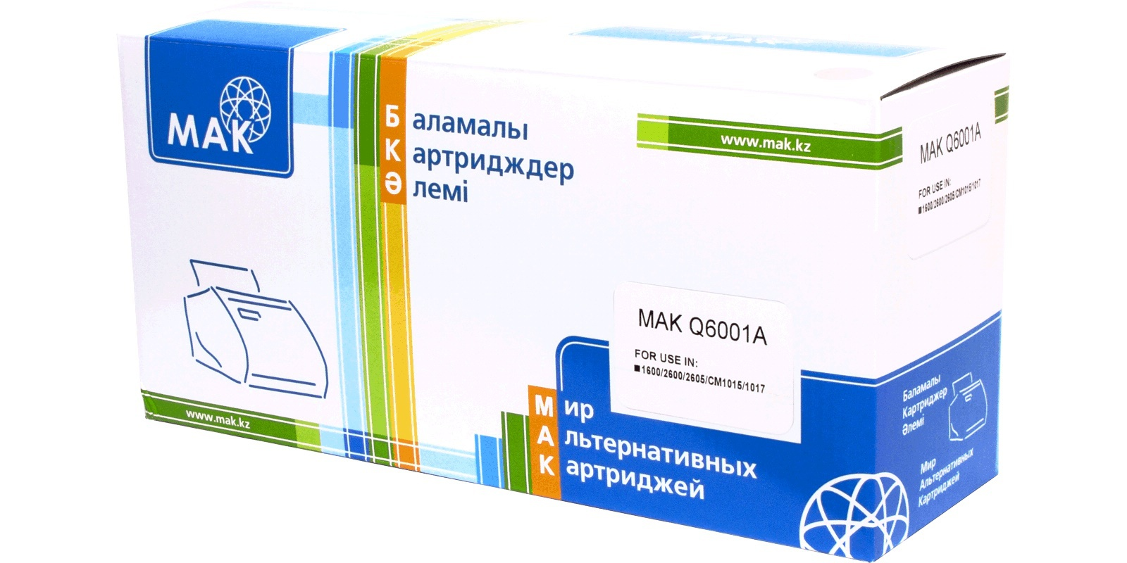 MAK №124A Q6001A CARTRIDGE-307/707/107, голубой (cyan), для HP