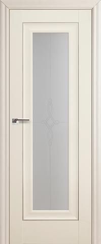 Дверь Profil Doors №24Х-Классика, стекло узор, цвет эш вайт, остекленная