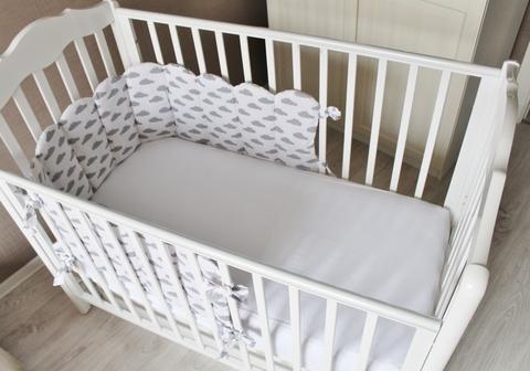 Бортик в кроватку Облачный Атлас, на 3 стороны кроватки