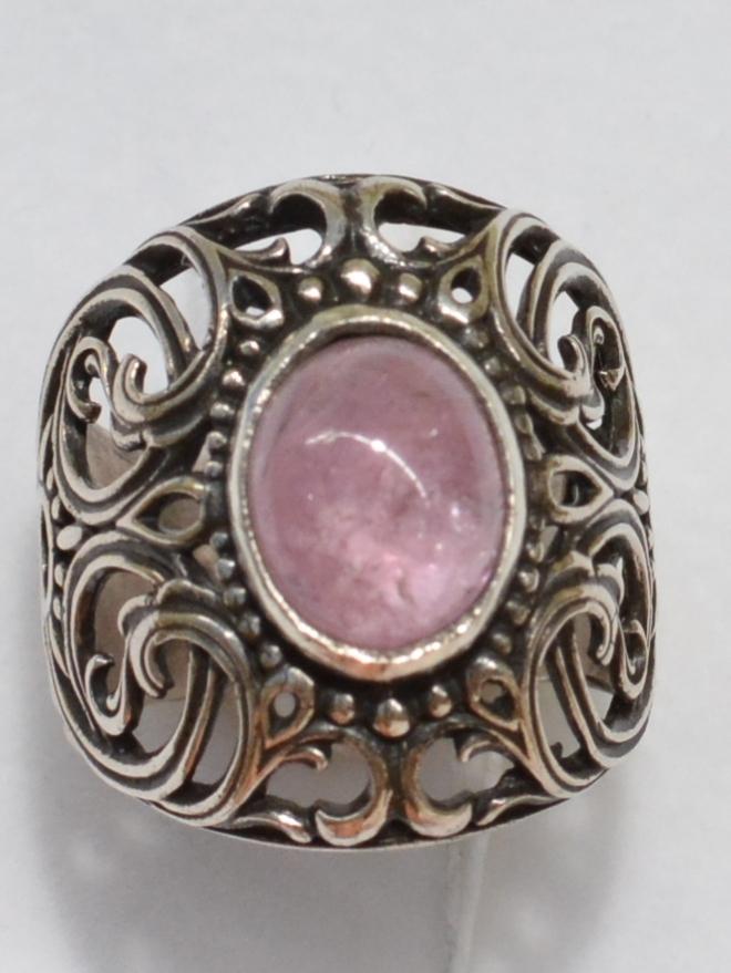 Шефлера-турмалин (серебряное кольцо)